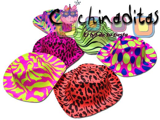 Sombrero texano plástico neón