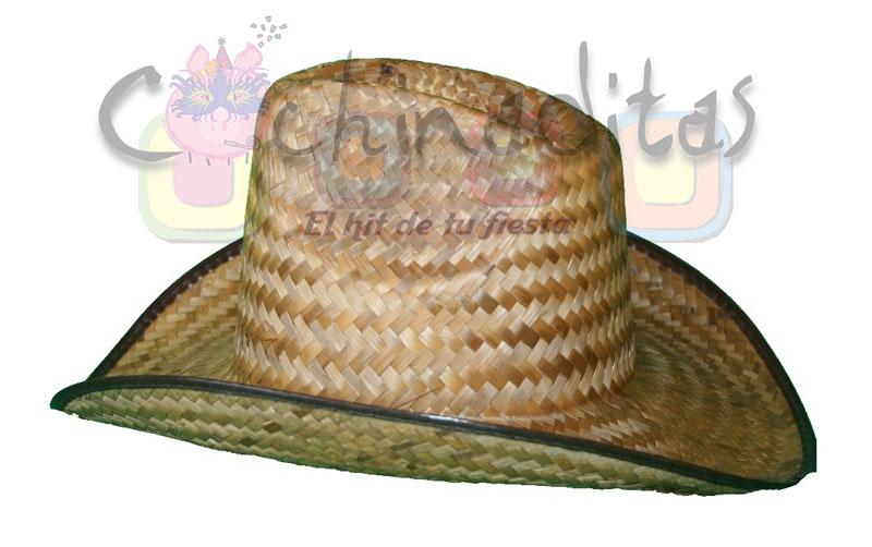 Sombrero texano de palma