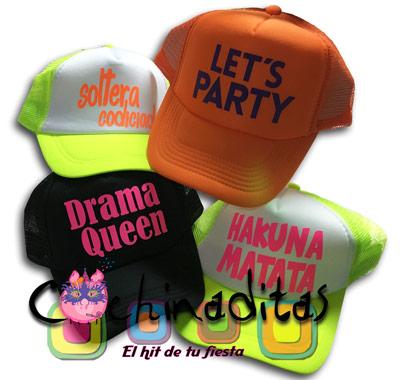 Gorras neón para fiesta