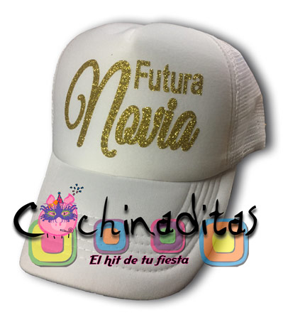 Gorra blanca Futura Novia brillo c850ecf3846